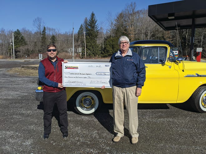 large check laurel highlands smith propane